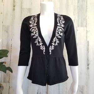 WHBM Embroidered Sweater